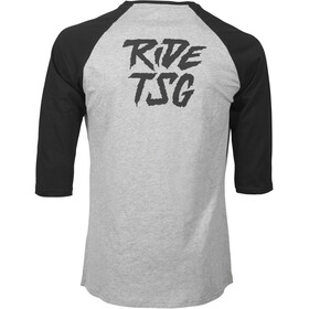 TSG Ripped Raglan 3/4 T-Shirt Men heather grey/black